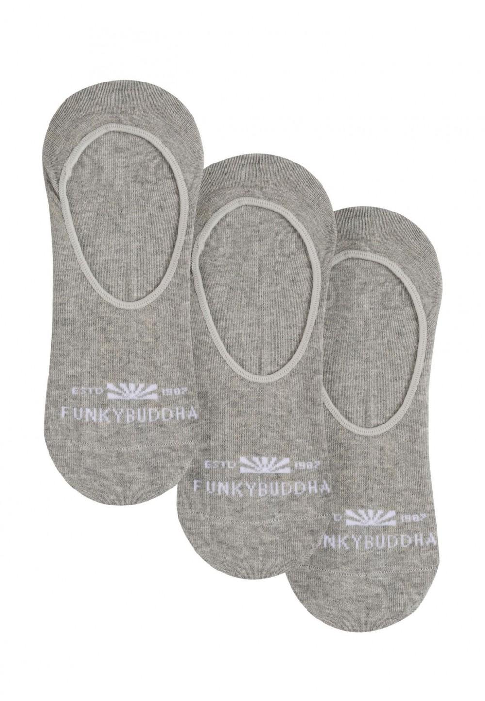 Сірі шкарпетки-сліди, набір з 3 штук