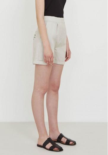 Льняные шорты с манжетами