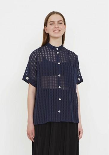 Легкая блуза в клетку