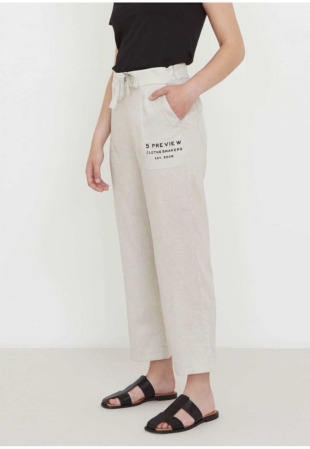 Льняные летние брюки
