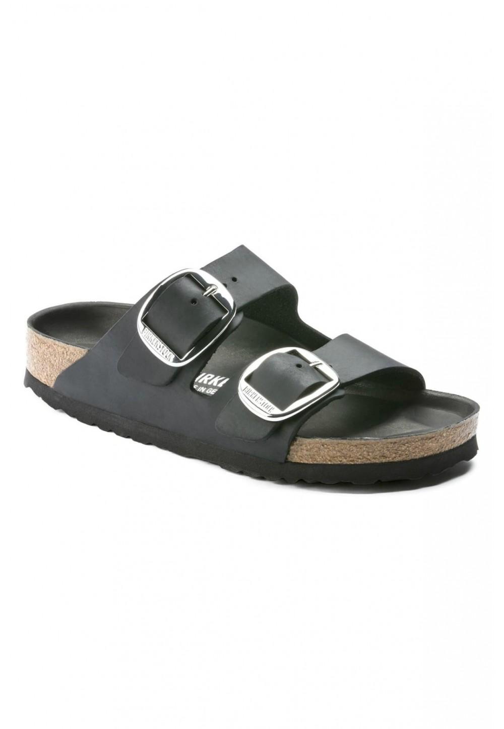 Черные классические сандалии