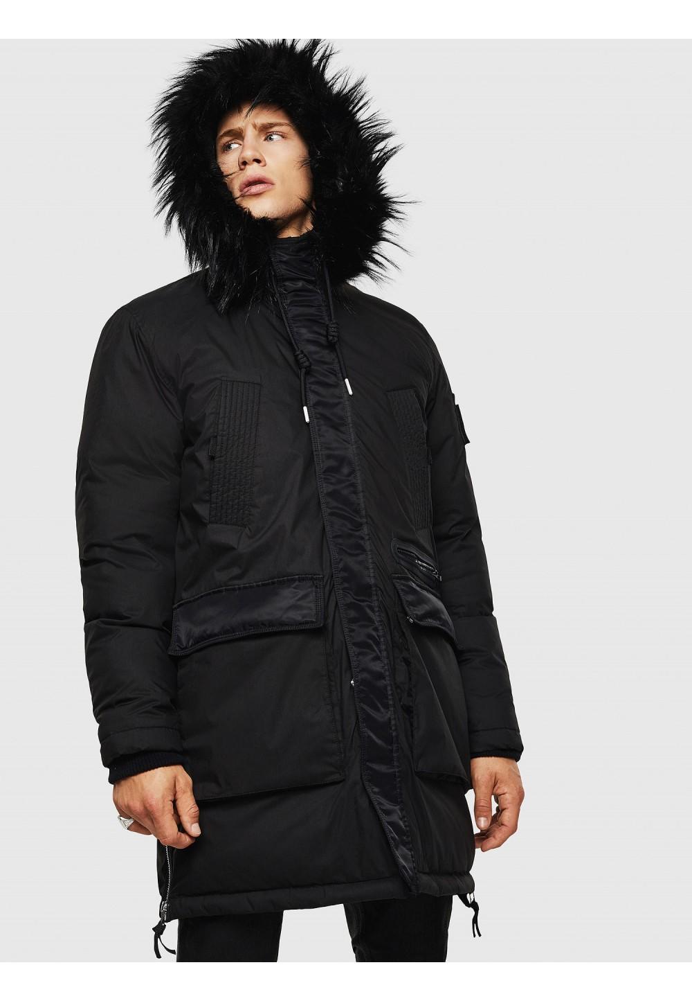Длинная мужская куртка с подкладкой