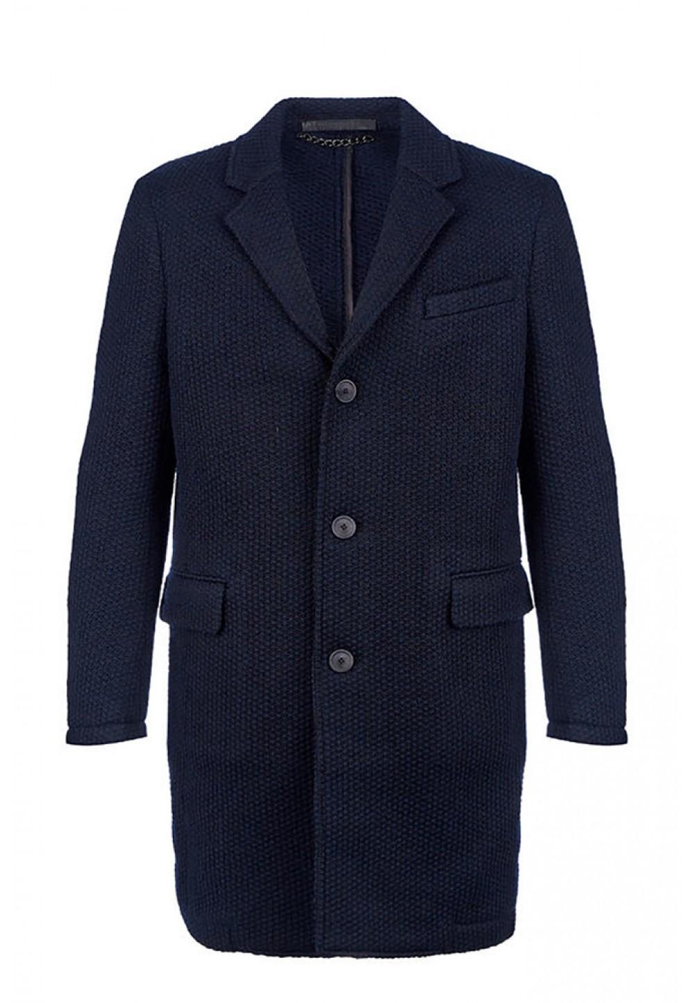 Пальто синее на пуговицах