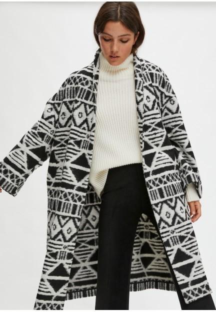 Пальто-накидка из шерсти