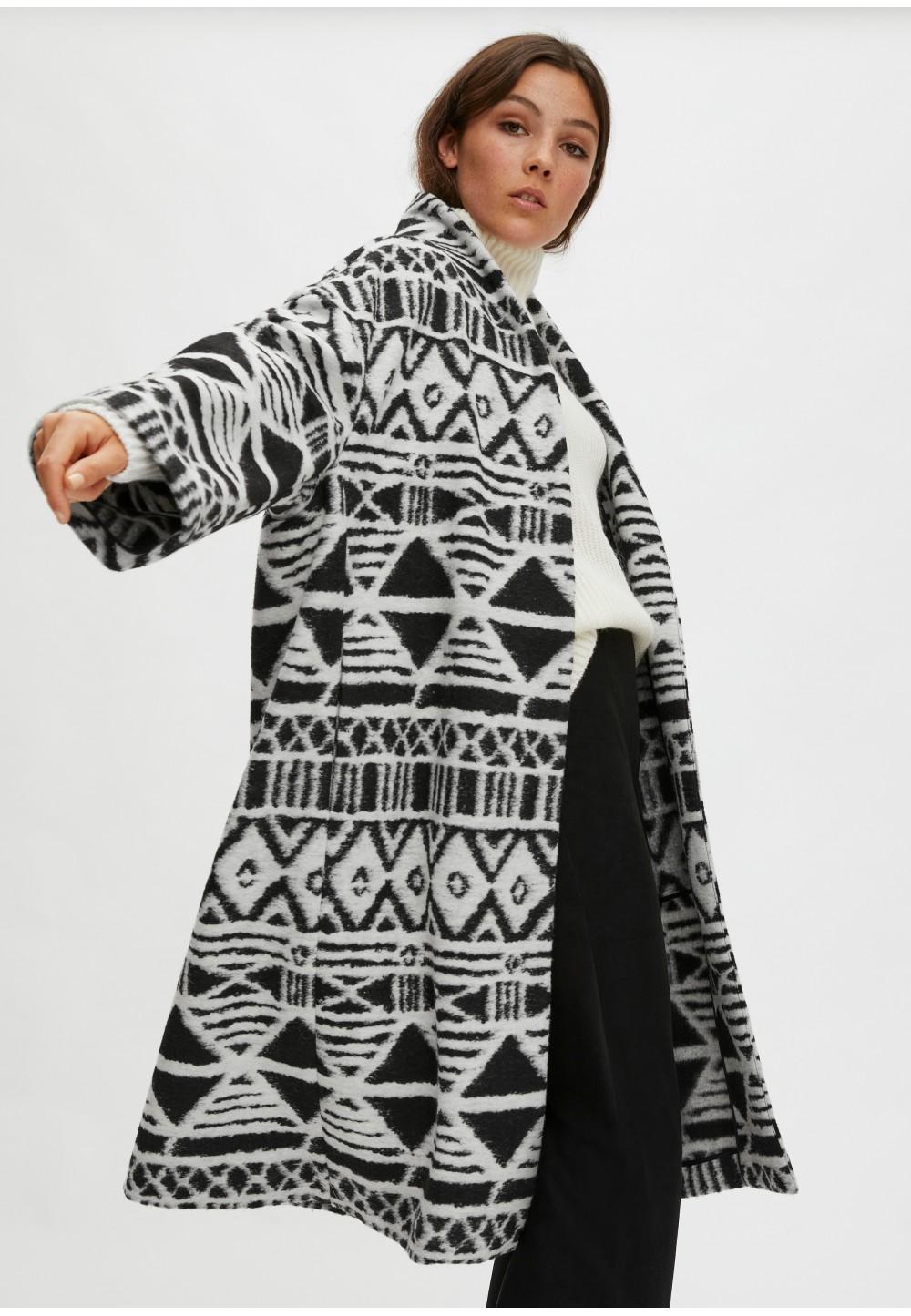 Пальто-накидка з вовни