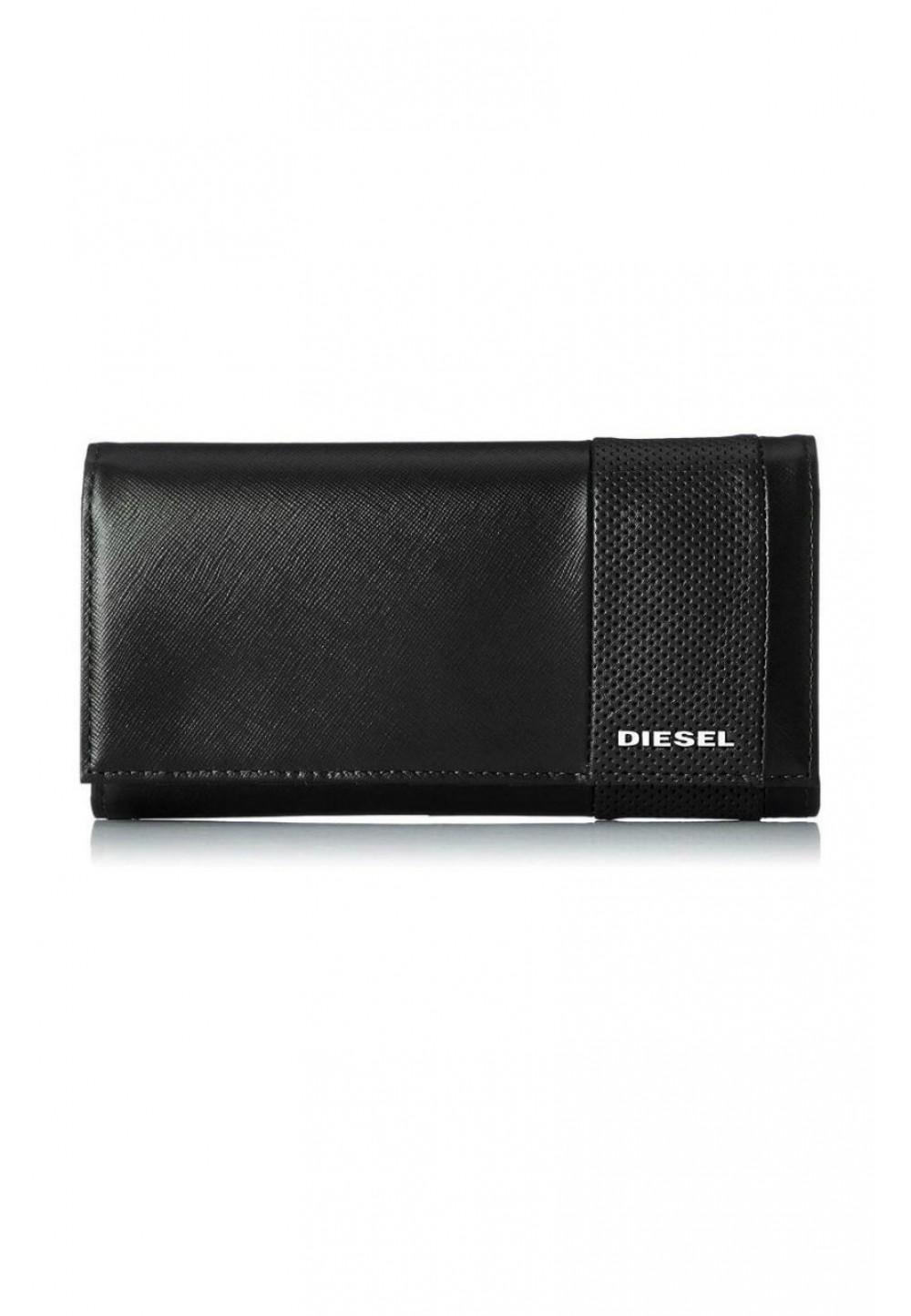 Черный кошелек с логотипом