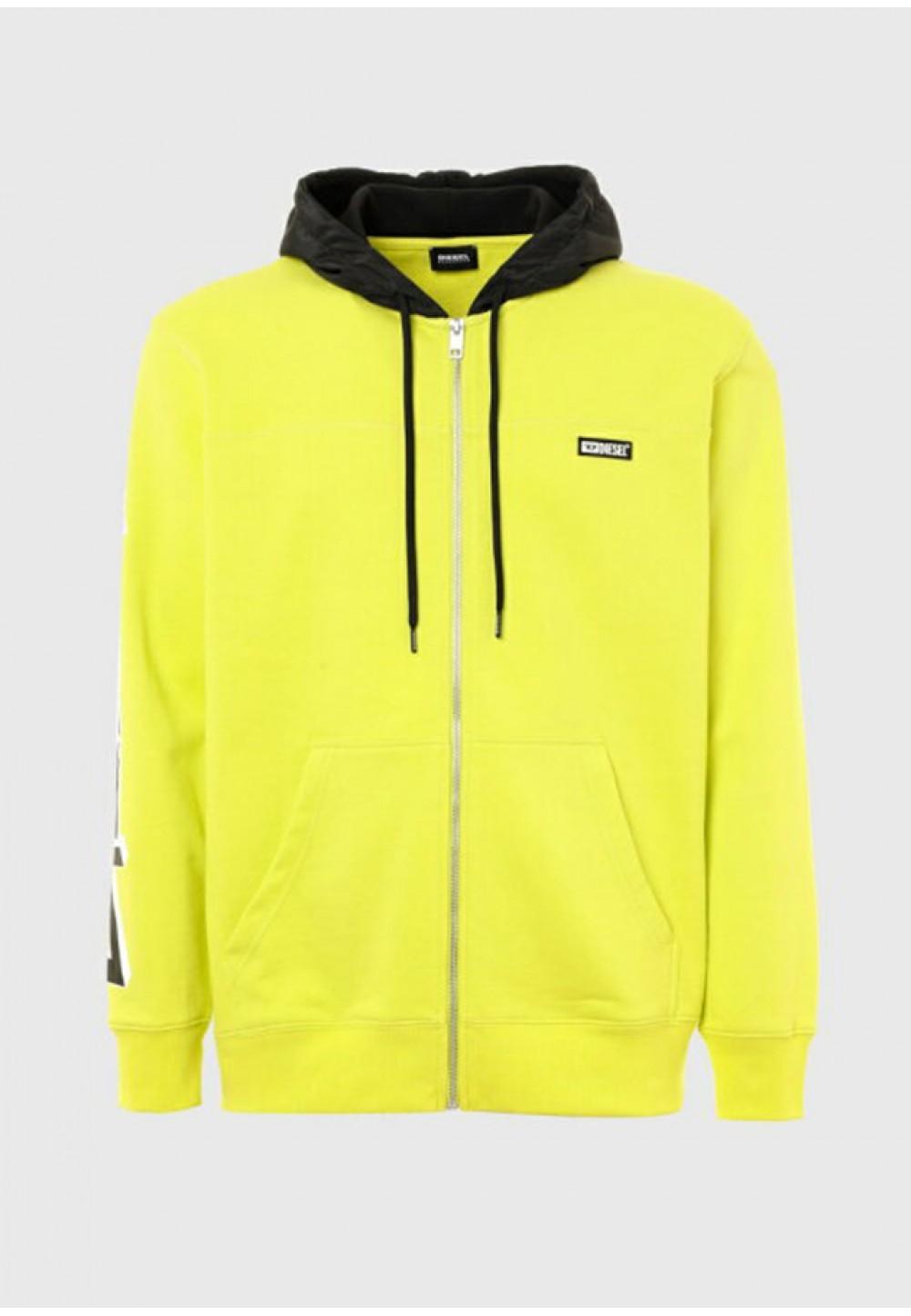 Яскравий худі з жовтим капюшоном