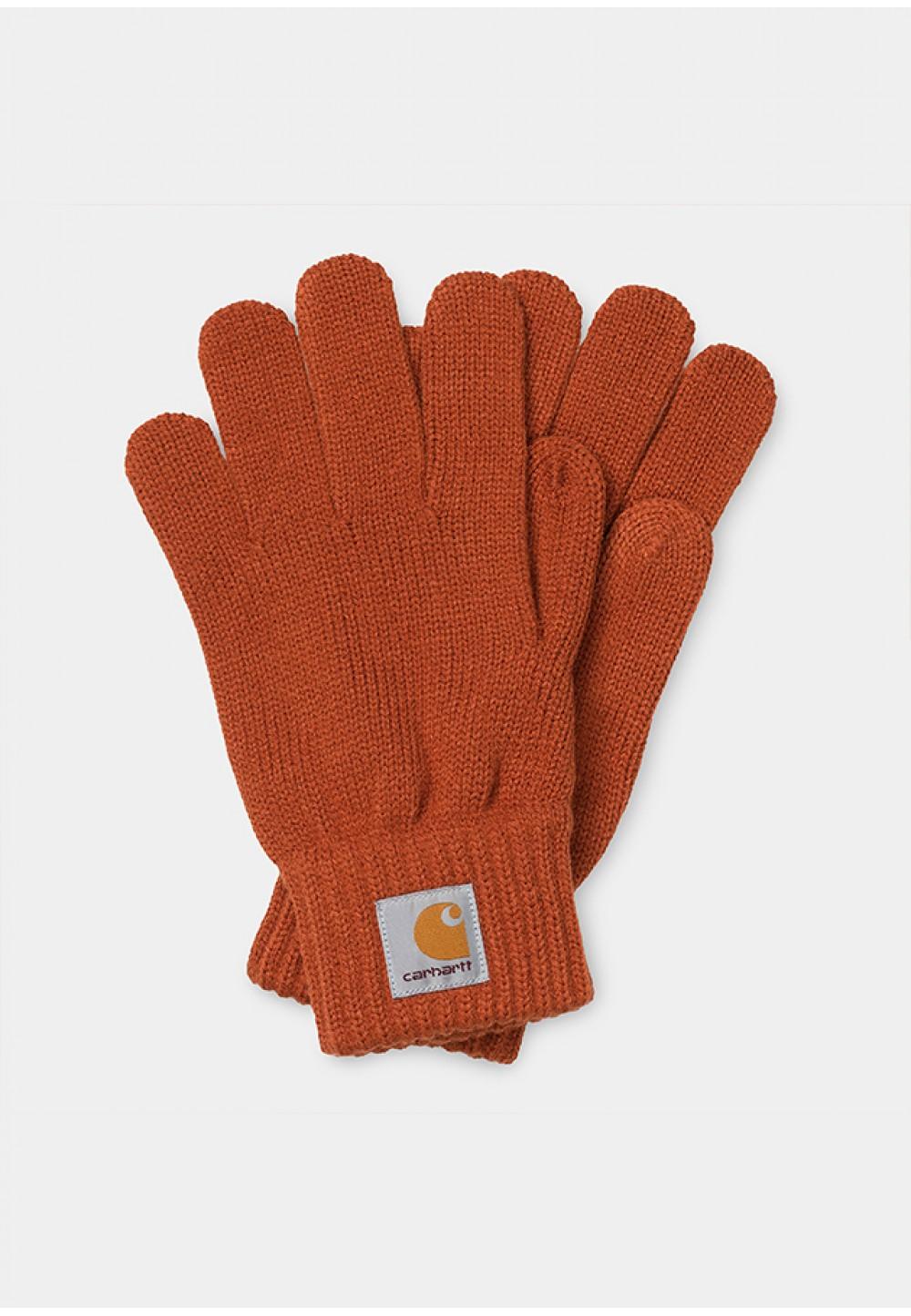 Яркие оранжевые перчатки
