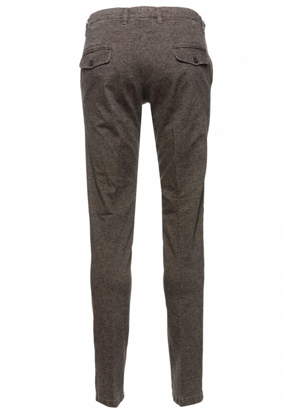 Зауженные коричневые брюки
