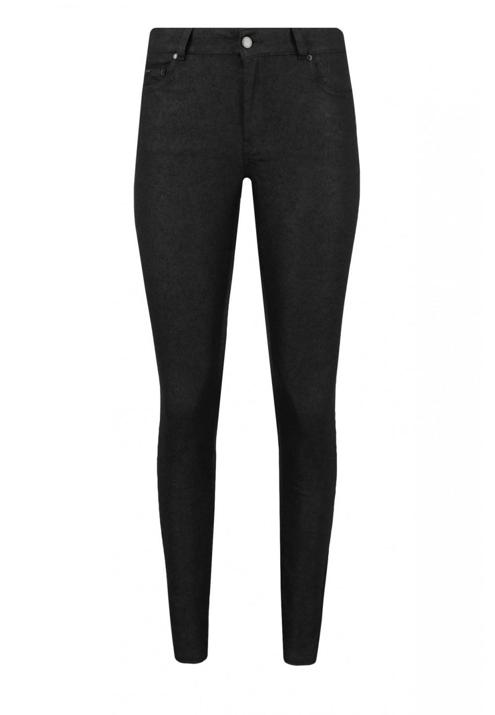 Зауженные черные джинсы