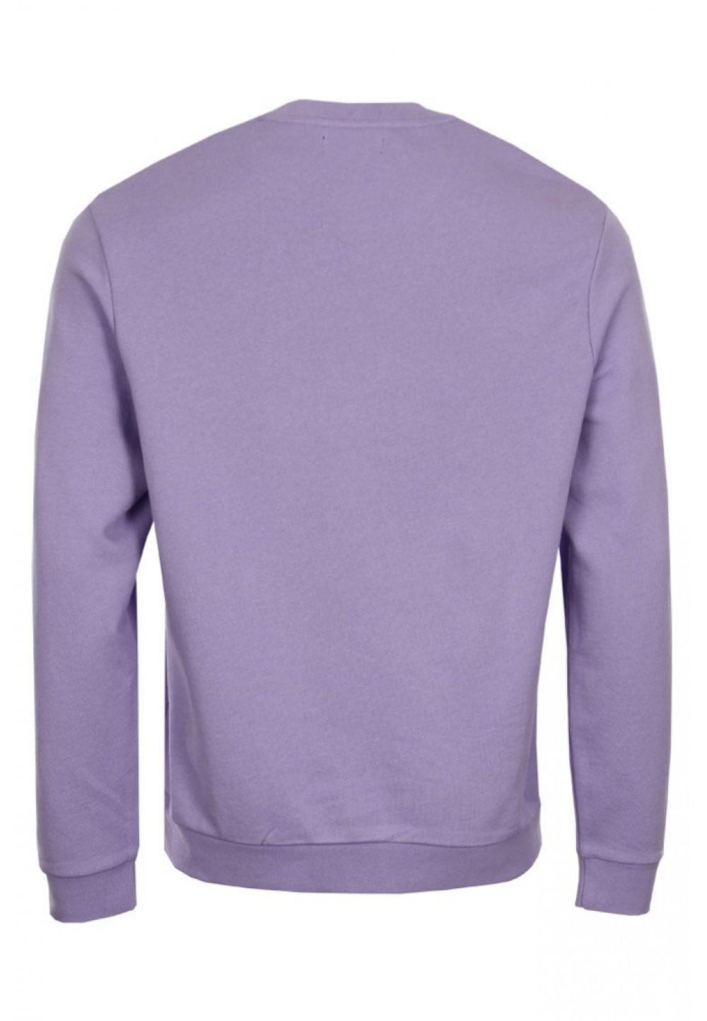 Лавандовый свитер с принтом