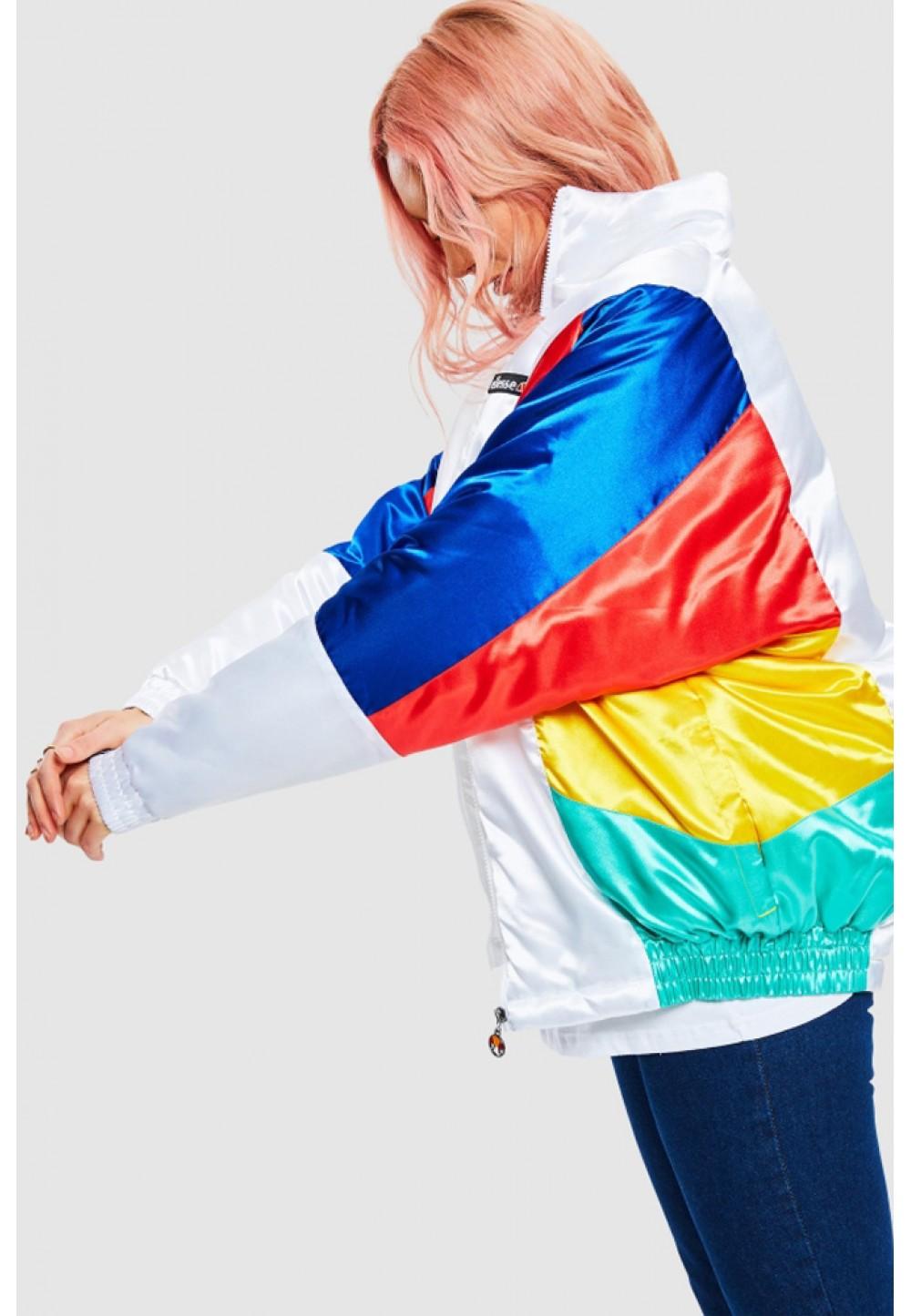 Разноцветная спортивная куртка