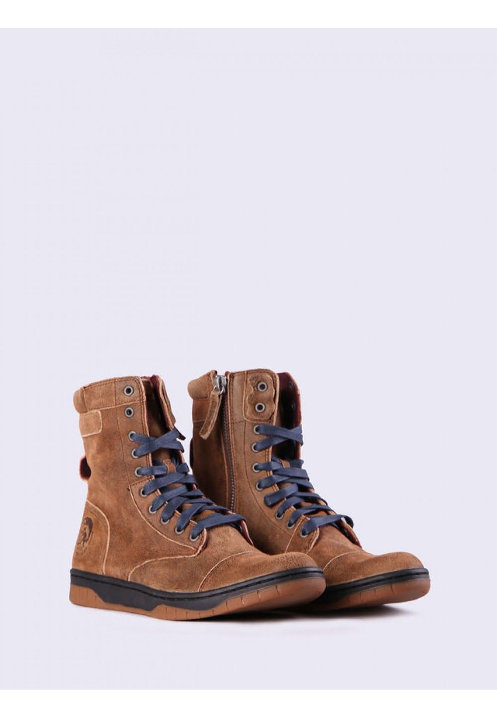 Коричневые ботинки BASKET BUTCH ZIPPY