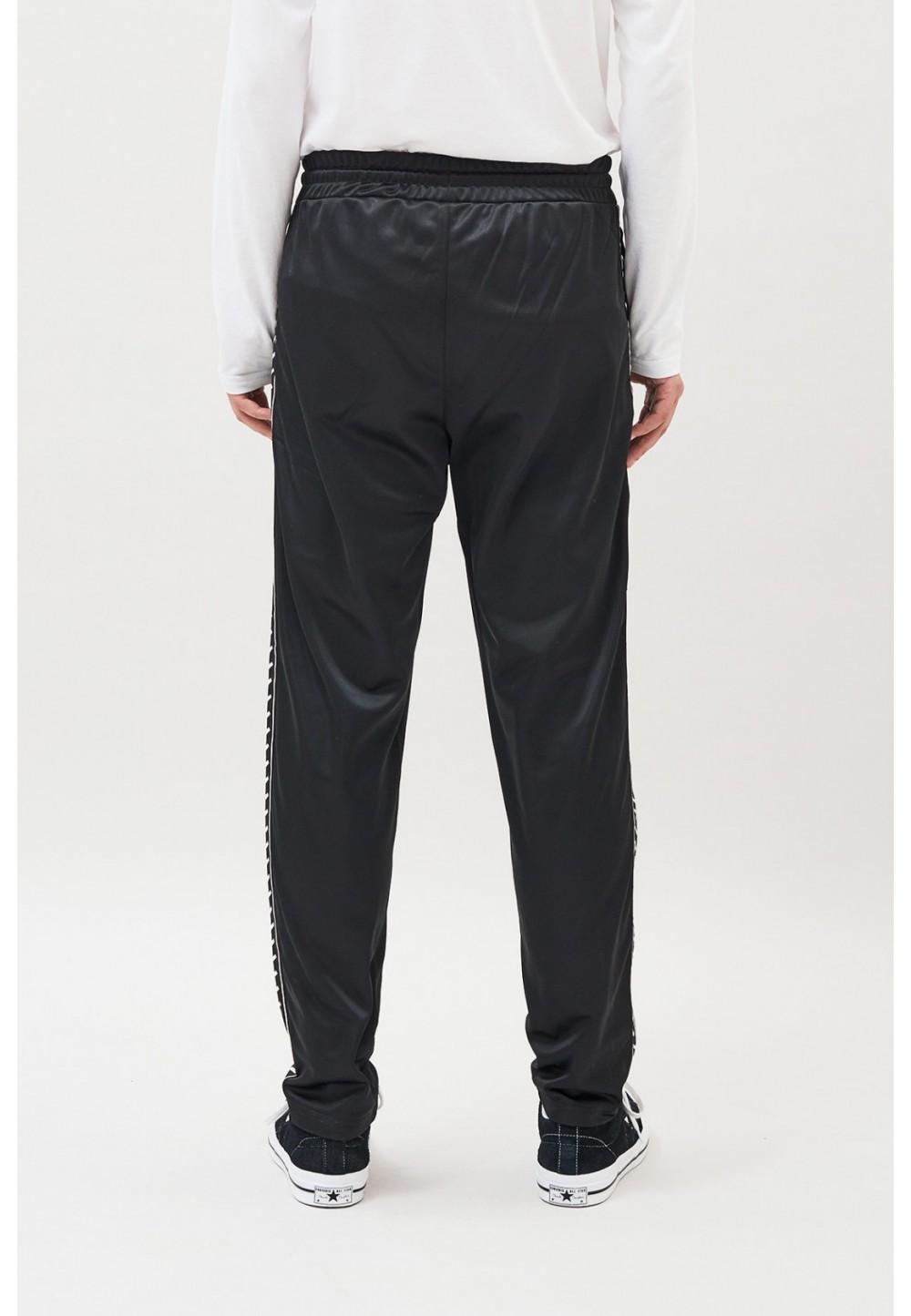 Спортивные черные брюки с полосками