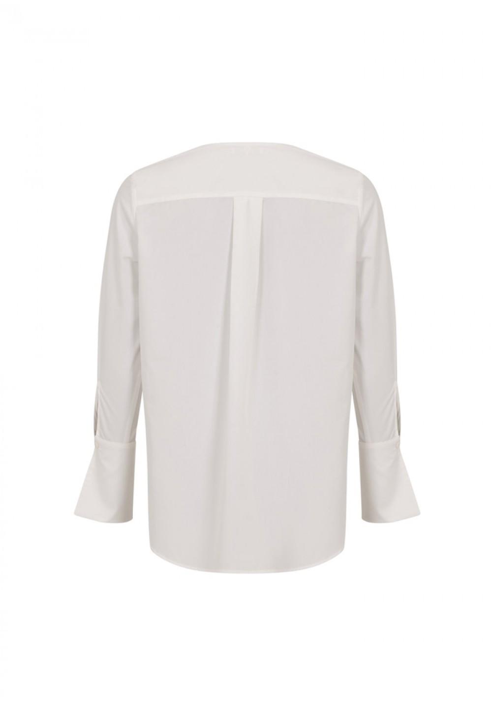 Белая асимметричная рубашка