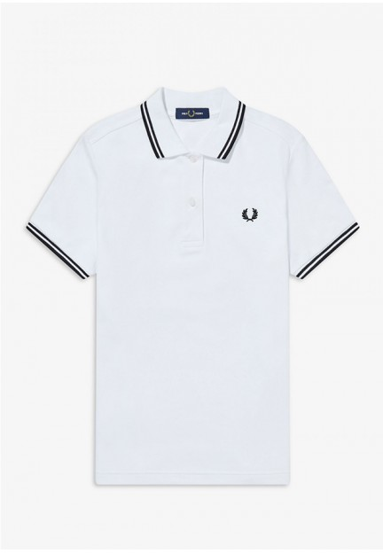 Белая футболка-поло с логотипом