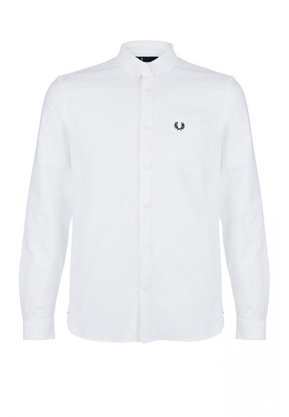 Белая хлопковая рубашка