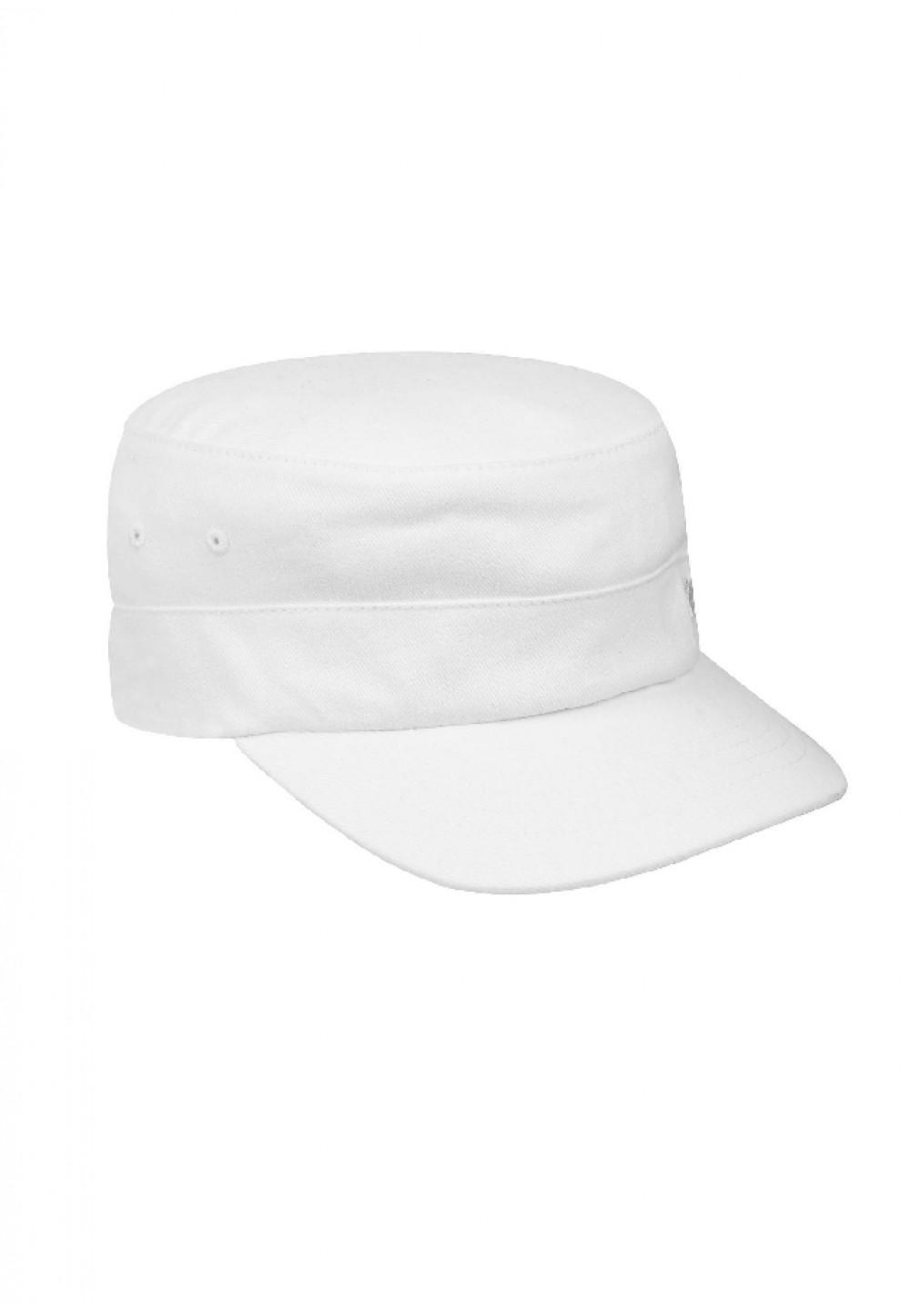 Біла кепка з бавовняного твила