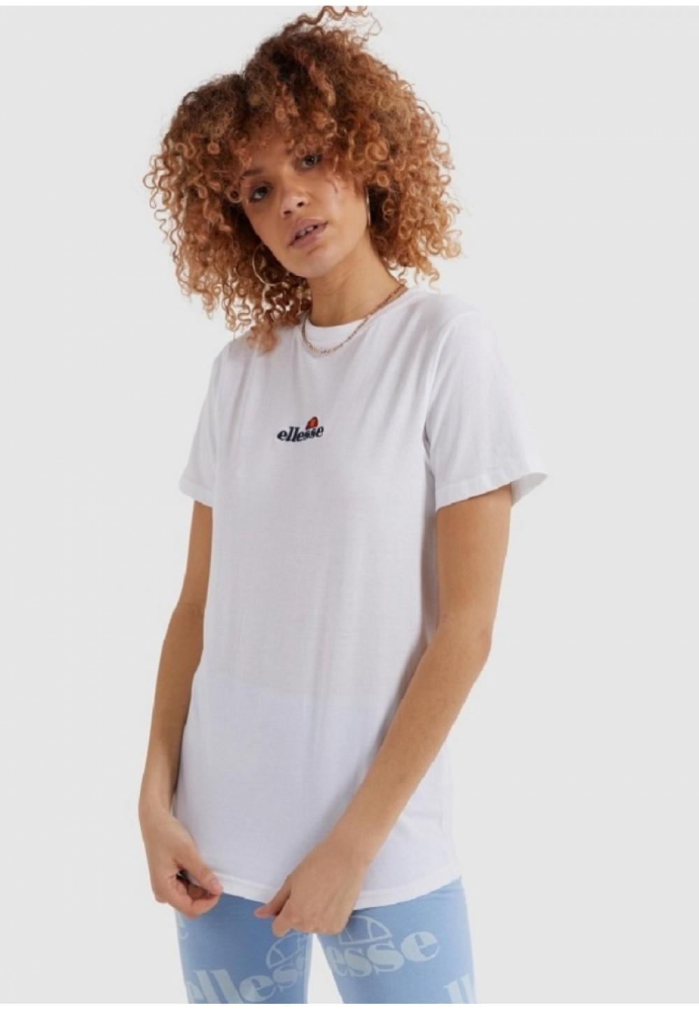 Біла футболка Nico прямого крою з логотипом