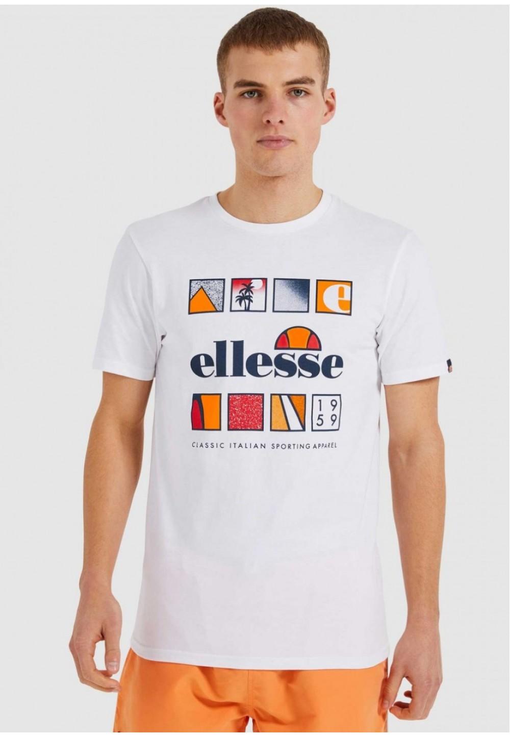 Біла футболка з логотипом спередi