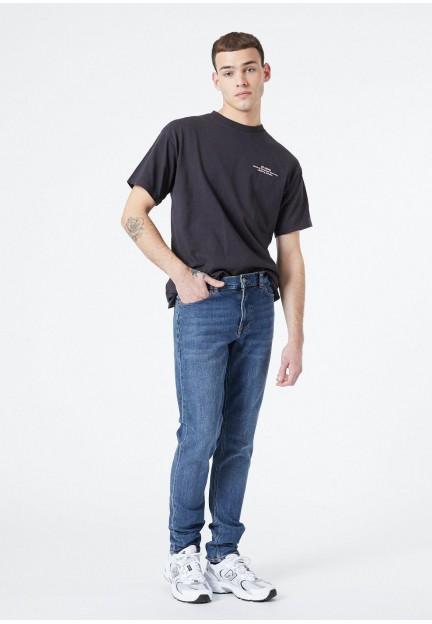 Темно-сині джинси slim