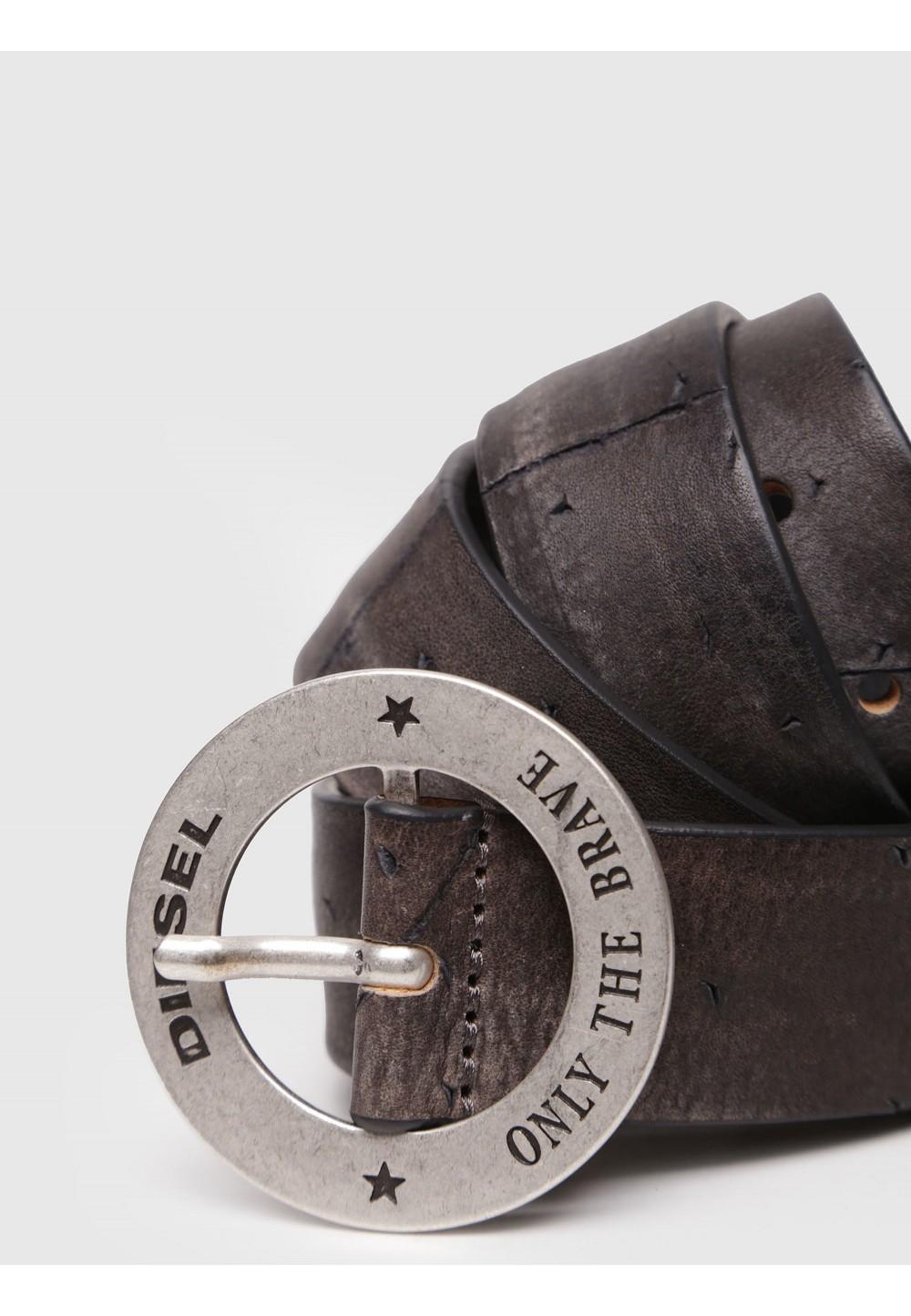 Мужской кожаный ремень с логотипом