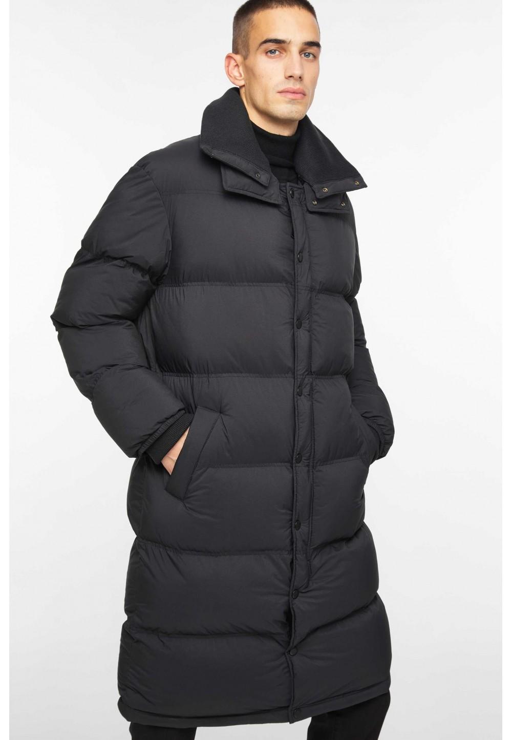 Черная куртка-пальто