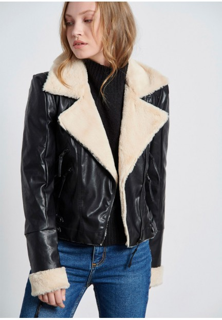 Теплая женская куртка-косуха