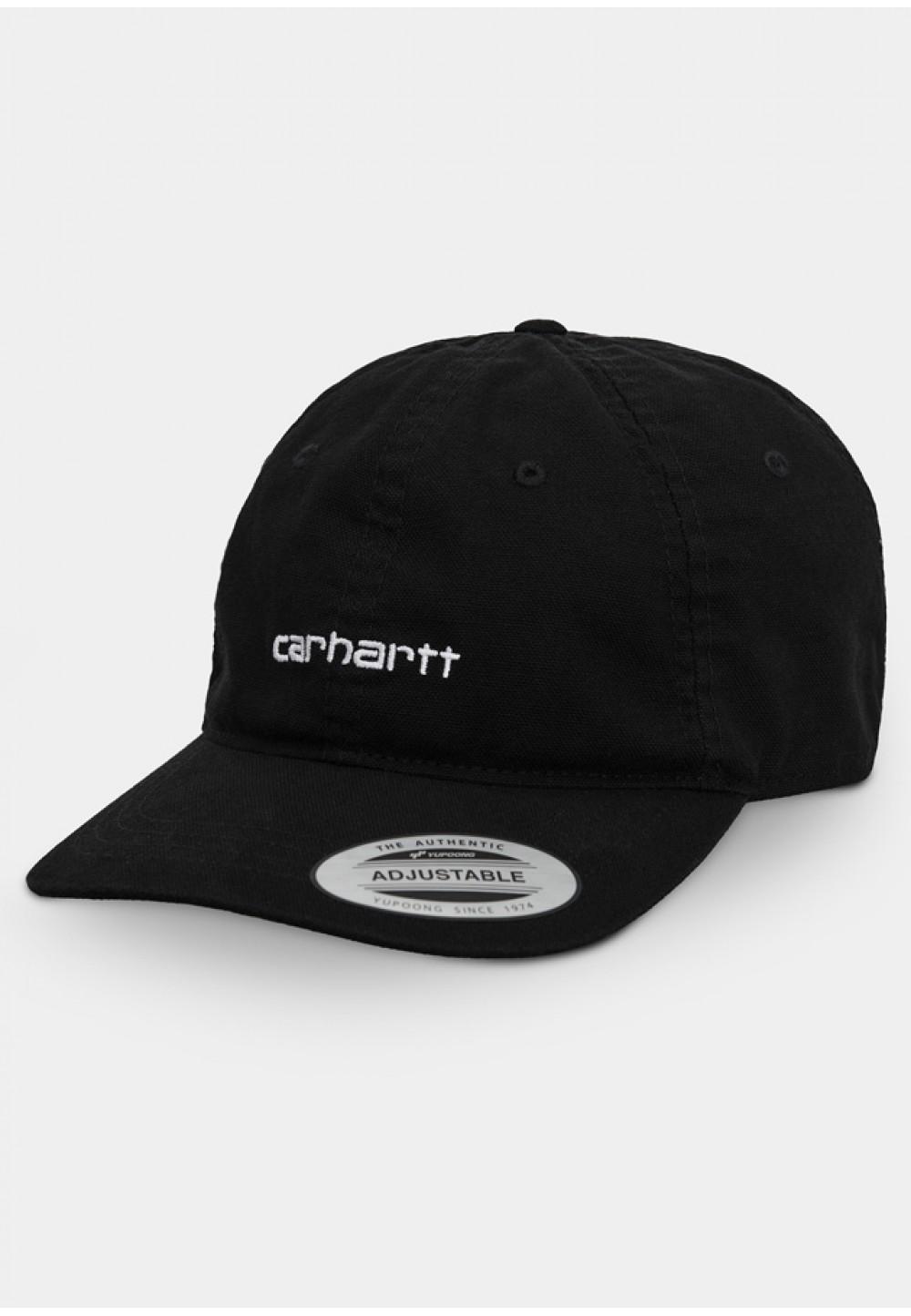 Черная кепка с вышивкой логотипа