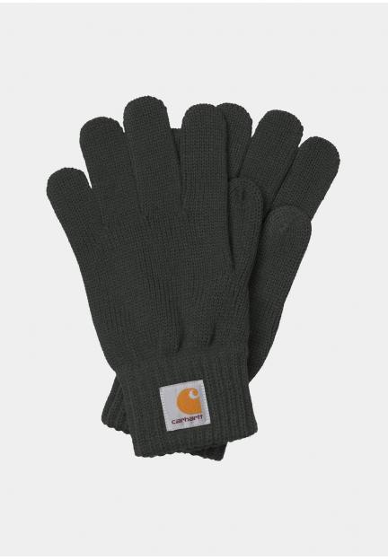 Теплые вязаные перчатки