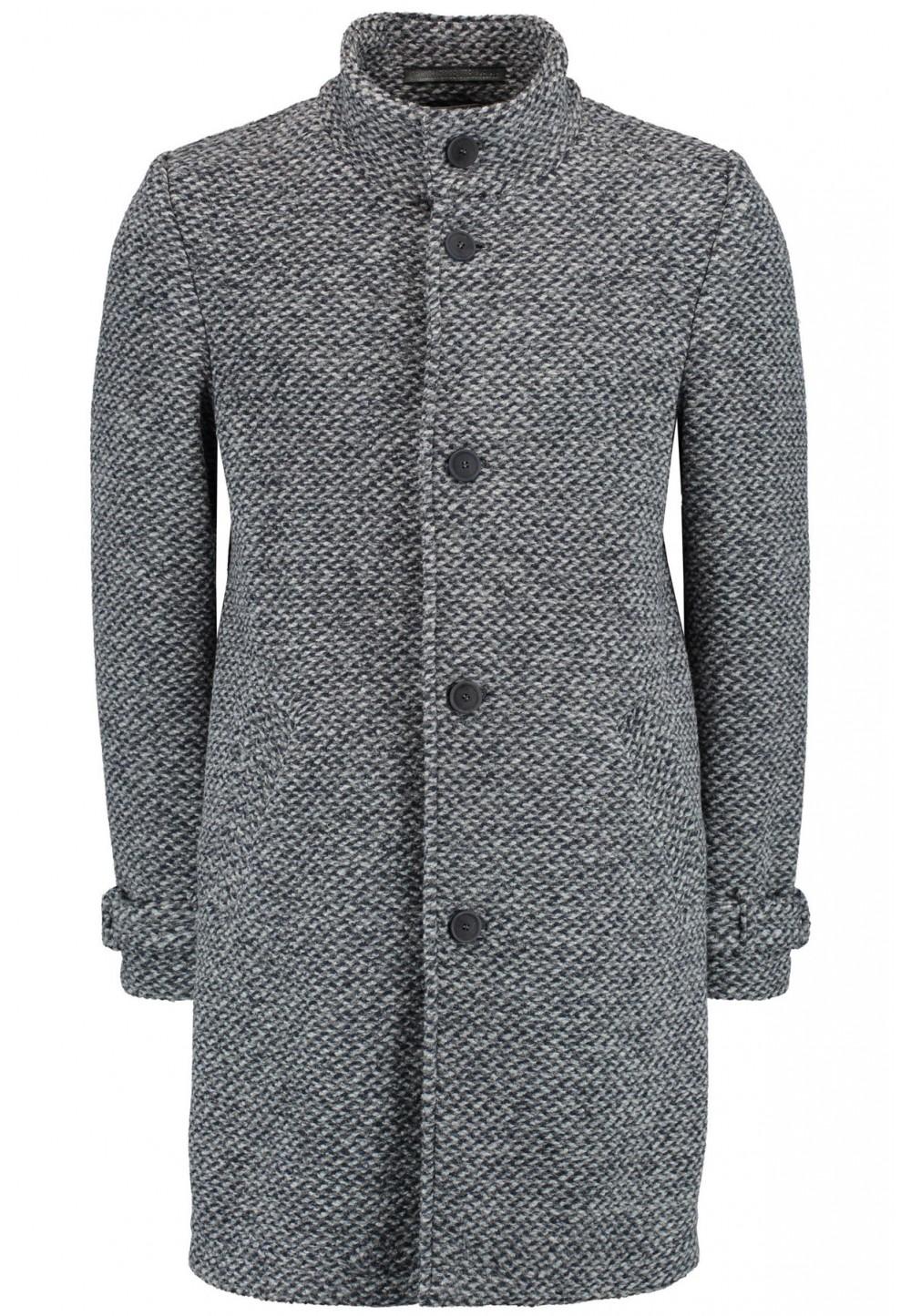 Голубое классическое пальто