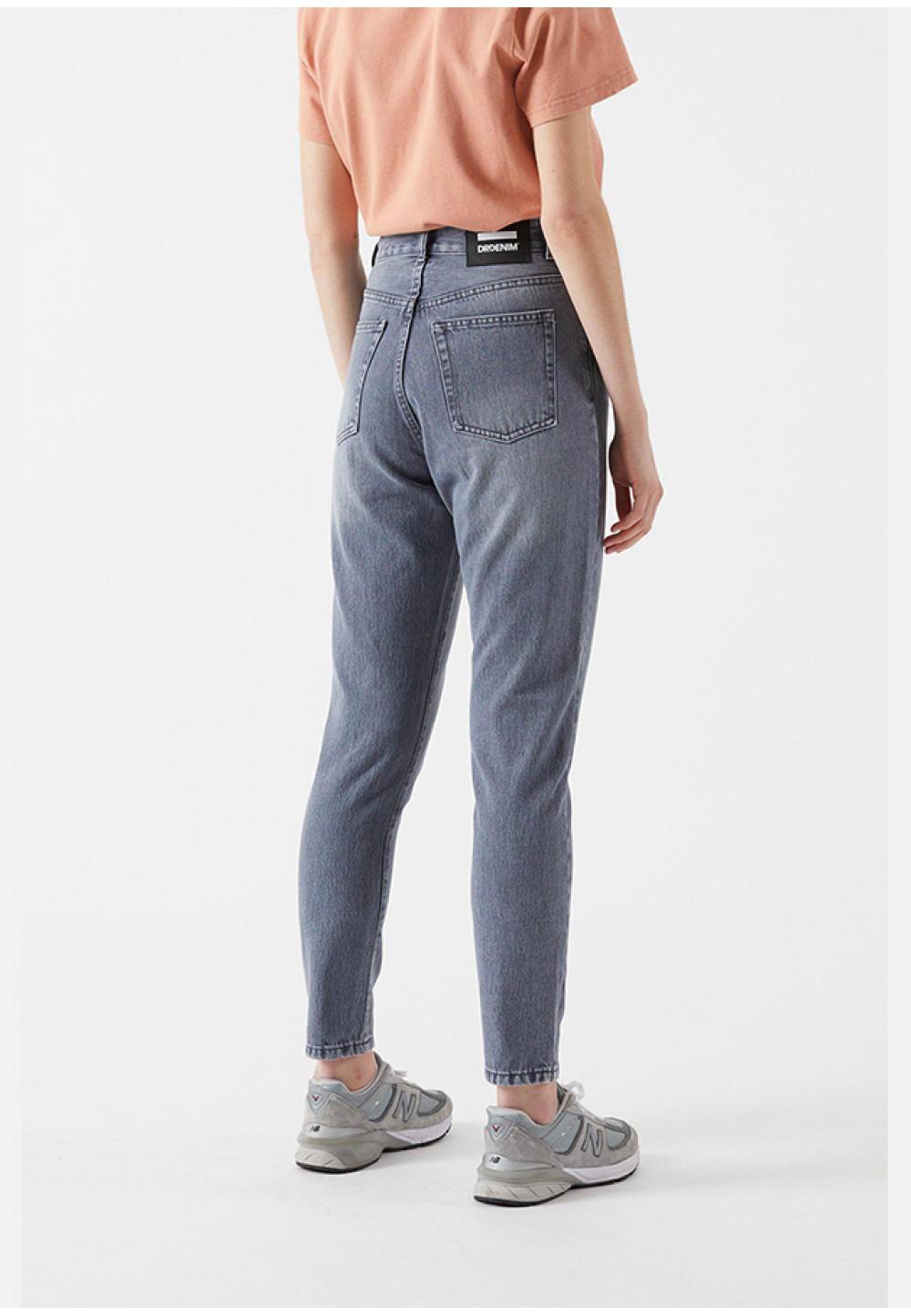 Серые укороченные джинсы