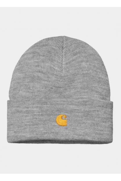 Серая шапка с вышивкой логотипа