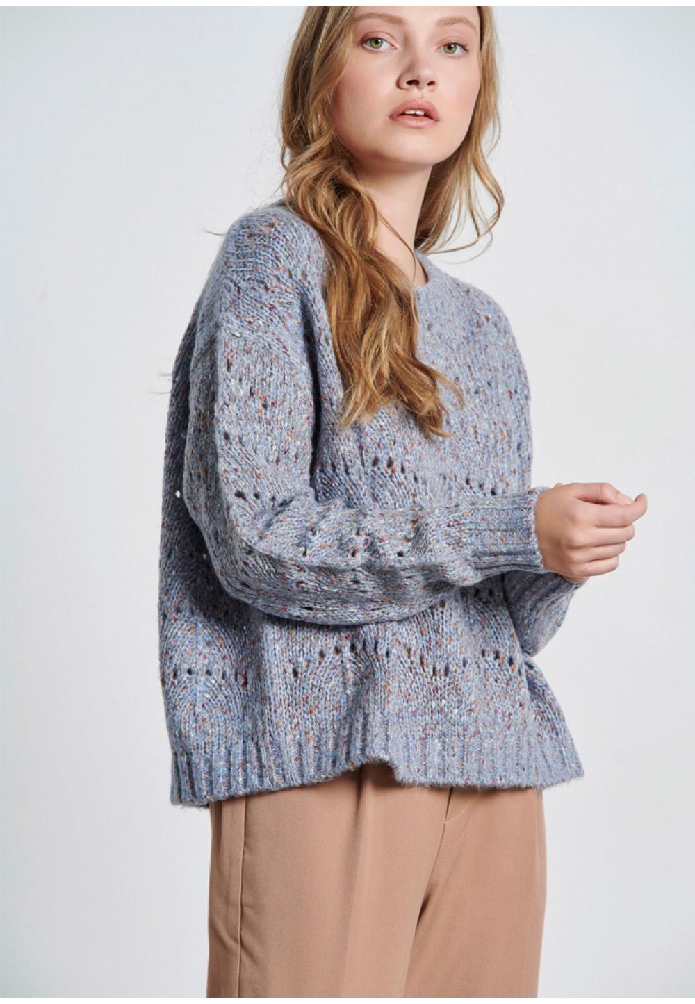 Серый женский пуловер