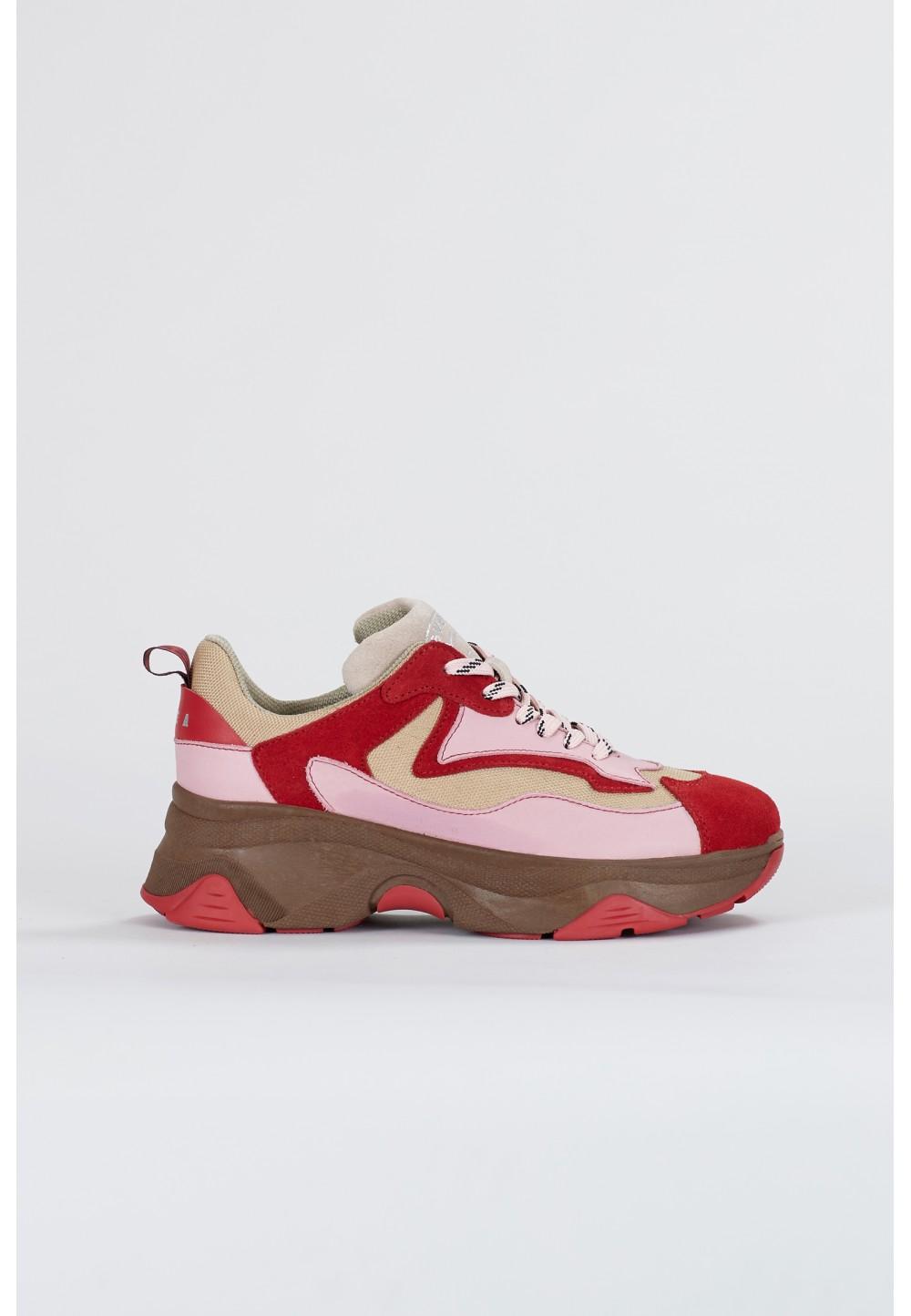Бежево-розовые кроссовки