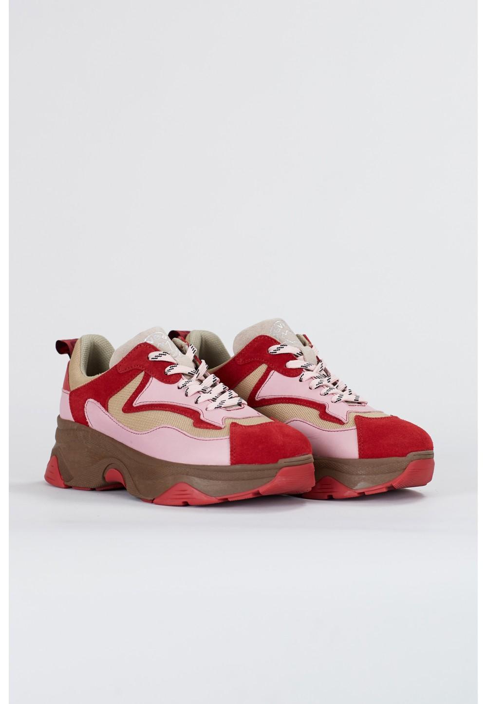 Бежево-рожеві кросівки