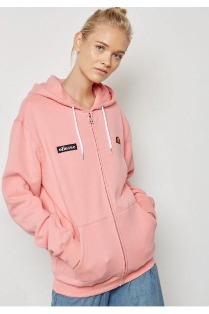 Нежно-розовое худи на молнии