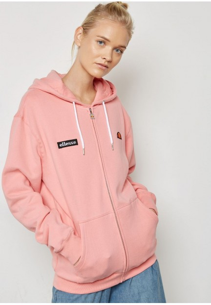 Нежно-розовый худи на молнии