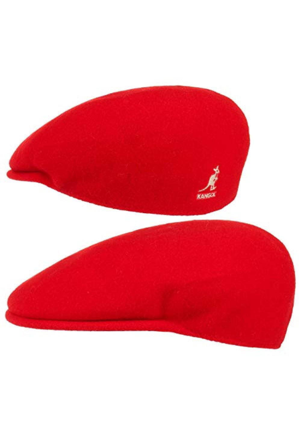 Стильна червона кепка Kangol Wool 504