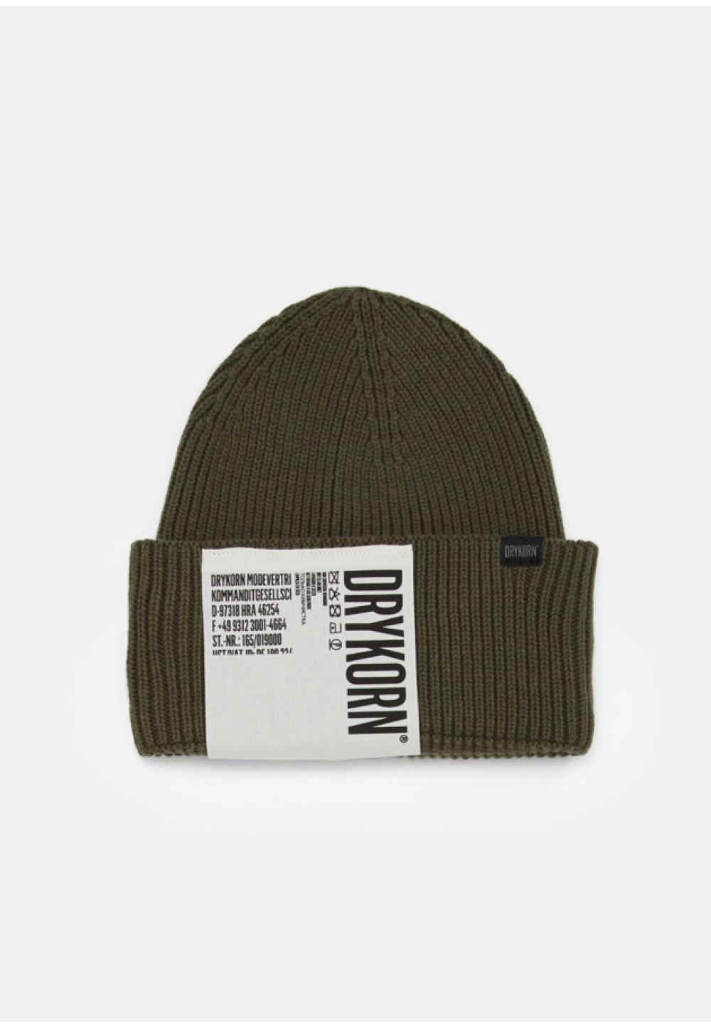 Стильная шапка цвета хаки