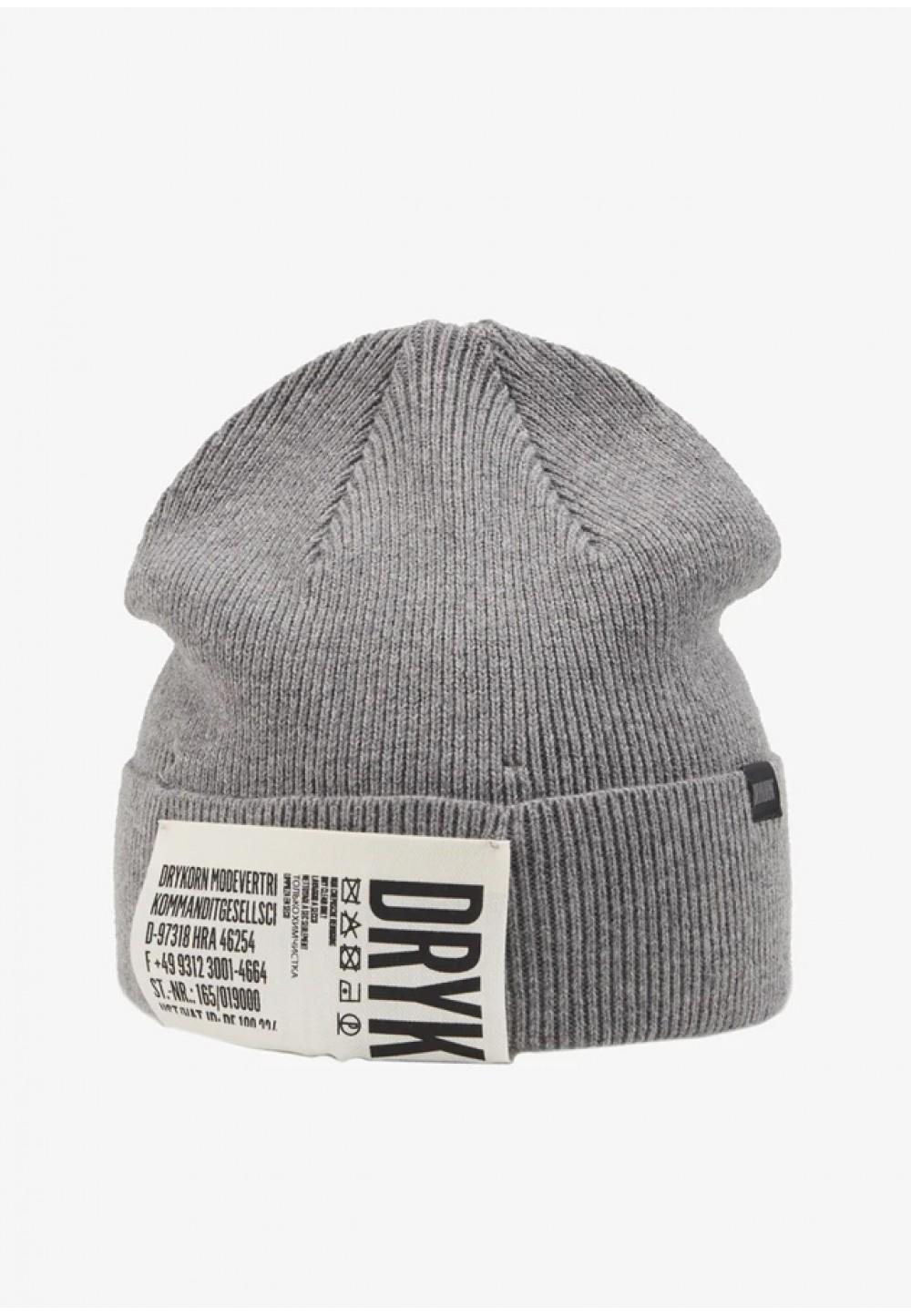 Серая осенняя шапка