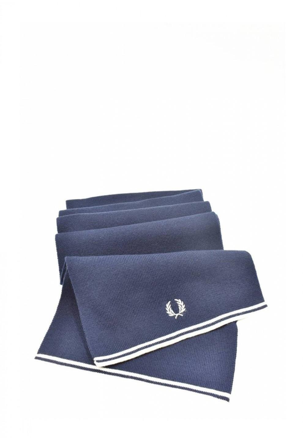 Темно-синий шарф с логотипом