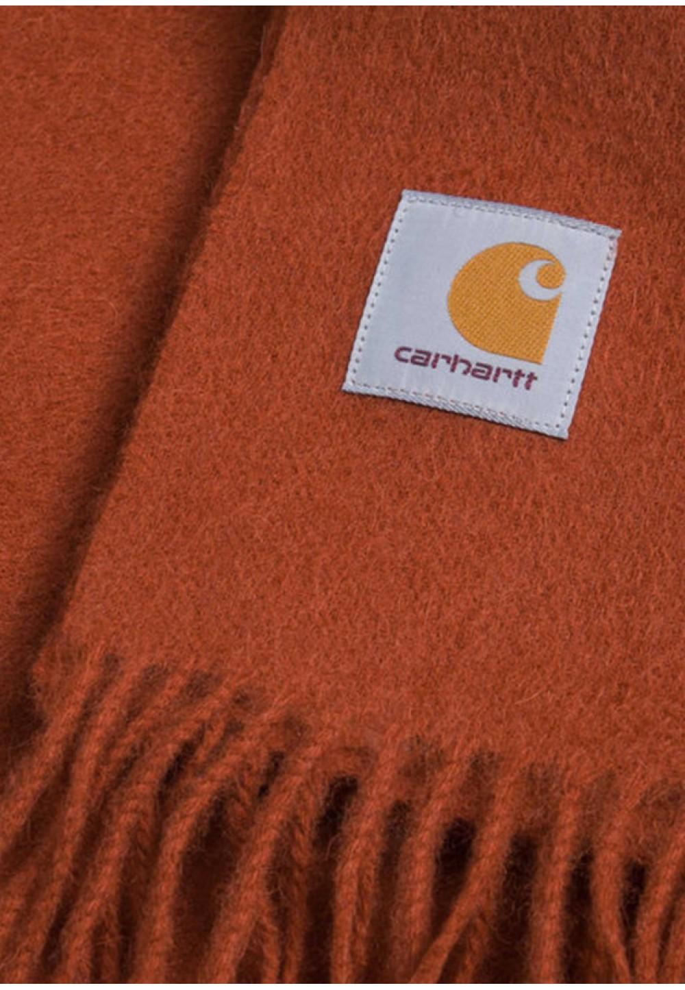 Яркий шерстяной шарф с логотипом
