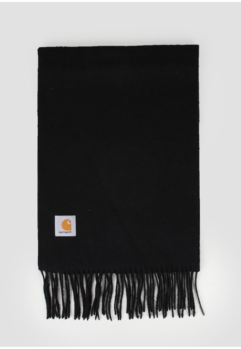 Черный шарф из натуральной шерсти