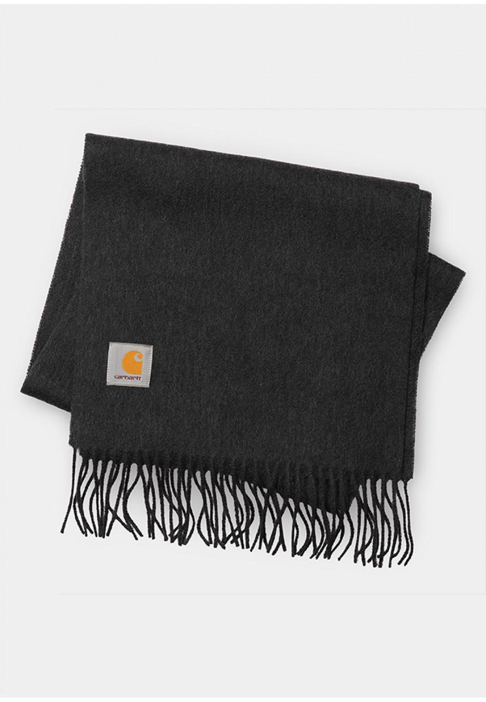 Серый шарф с бахромой