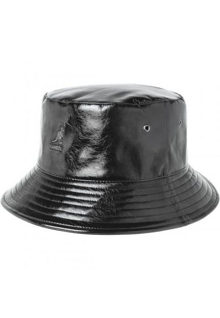 Чорна панама з вушками від бренду Kangol