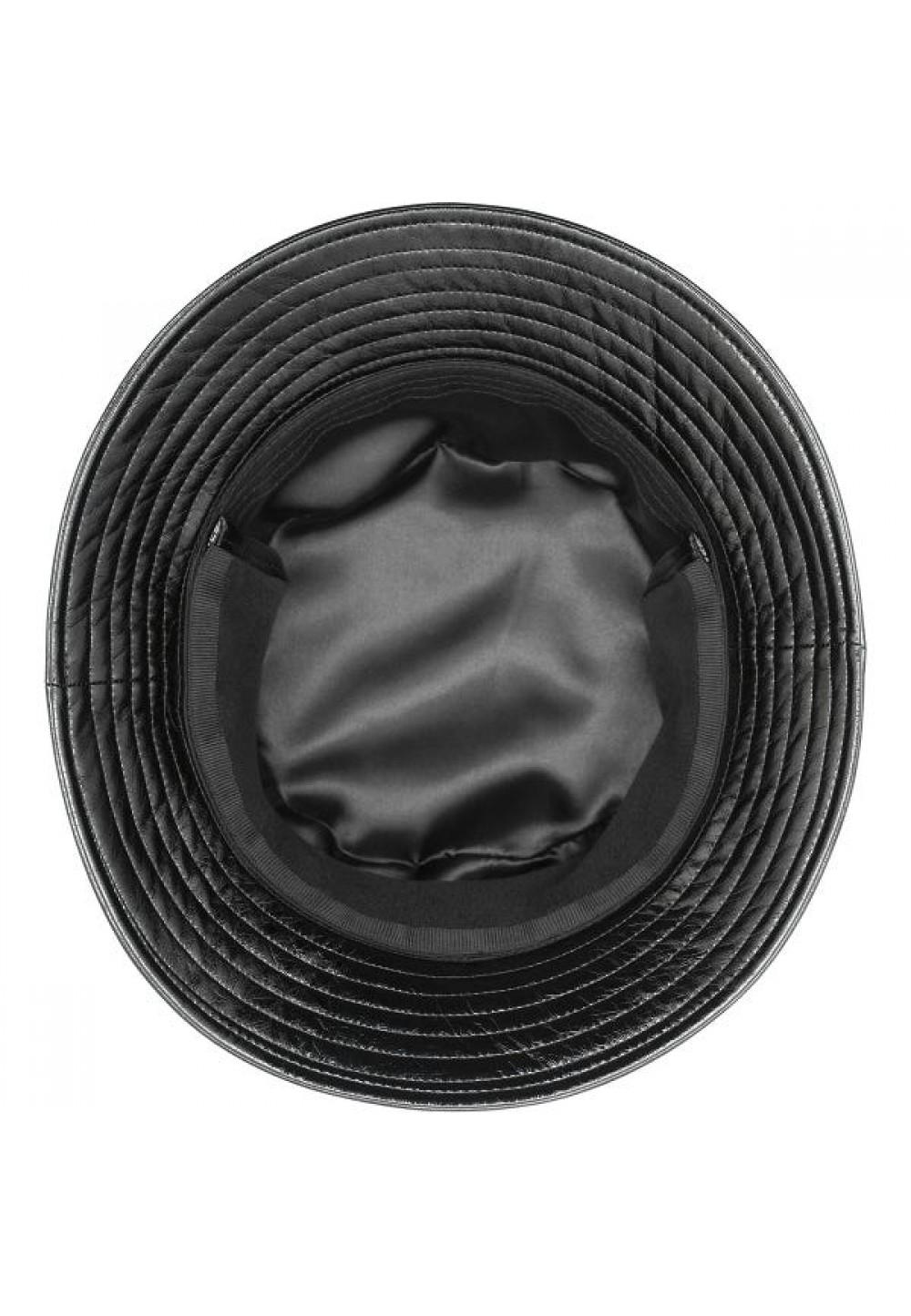 Черная панама с ушками от бренда Kangol