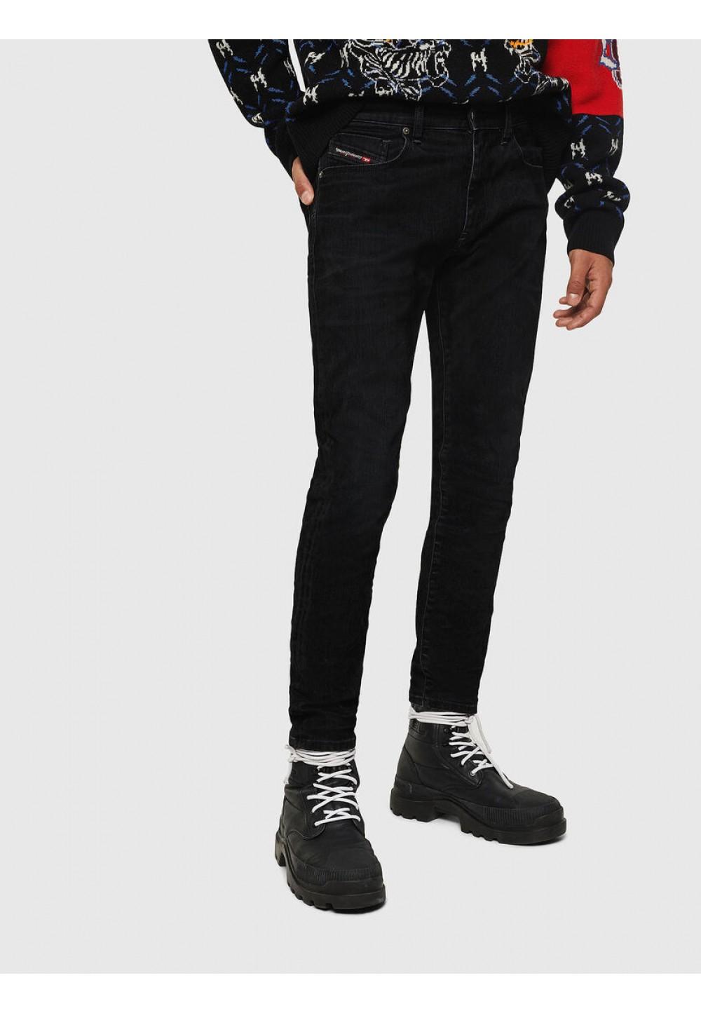 Черные хлопковые джинсы