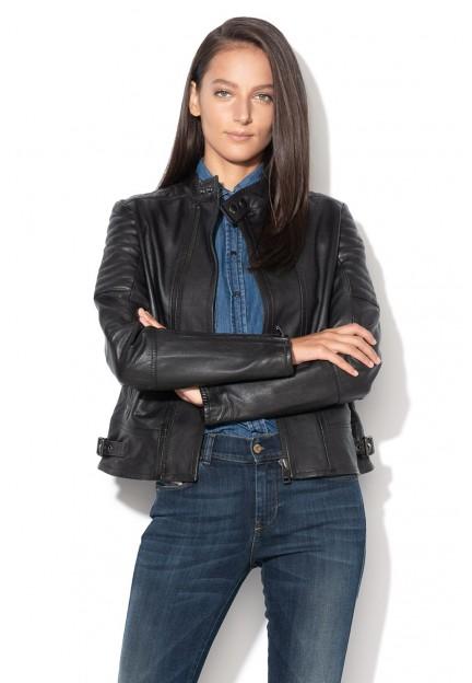Черная кожаная куртка Lily
