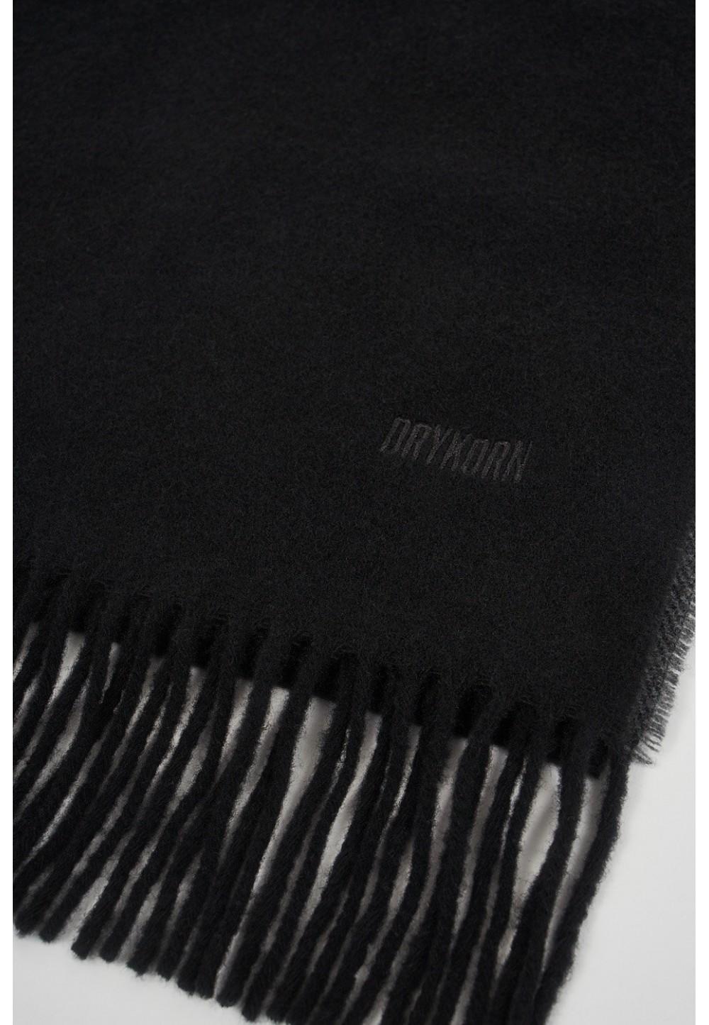 Шерстяной черный шарф